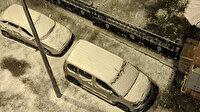 Ardahan'da mevsimin ilk karı yağdı: Kısa sürede kent beyaza büründü