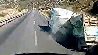 Isparta'da minibüs ile kamyonet kafa kafaya çarpıştı: Feci kaza araç kamerasına yansıdı