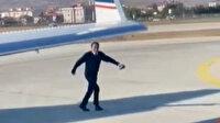 Esenboğa Havalimanı'nda pilottan takdir toplayan davranış: Pistteki kaplumbağa güvenli alana bırakıldı