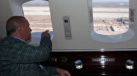 Cumhurbaşkanımız Erdoğan inşası devam eden Çukurova Havalimanı'nı havadan inceledi