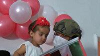 Mehmetçik Barış Pınarı bölgesinde 'Pınar' bebeğin doğum gününü kutladı