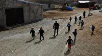 İlk kez görünce böyle kaçtılar: Erzurum'da ilk defa drone gören masum çocuklar