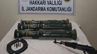 Hakkari'de PKK'ya darbe: AT-4 tanksavar silahı ve mühimmat ele geçirildi