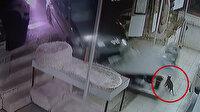 Ankara'da kontrolden çıkan araç dükkana girdi: Kedi ezilmekten son anda kurtuldu