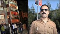 Elazığlı şehidin baba ocağına Türk bayrağı asıldı