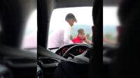 Bursa'da çocuklar zarf vermeyen düğün arabasına zarar verdi