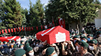 Fırat Kalkanı Harekatı bölgesinde şehit olan iki polis memleketlerine uğurlandı