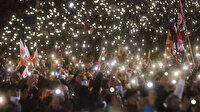 Gürcistan'da Mihail Saakaşvili taraftarları sokağa indi
