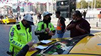 Taksim'de 2 taksi trafikten men edildi