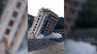 Bozkurt'ta 10 katlı Rüya Apartmanı kontrollü şekilde yıkıldı