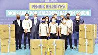 Pendik'ten okullara malzeme desteği