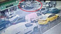 Gaziantep'te otomobilinde tehdit edilen sürücü direğe çarptı