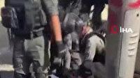 İşgalci İsrail Şam Kapısı'nda Filistinlilere saldırdı