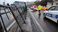 Sürücüsü kaçtı: Beyoğlu'nda otomobil takla attı, trafik yoğunluğu oluştu