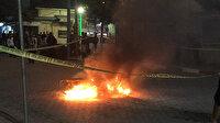 Siirt'te ceza uygulanan sürücü motosikletini yaktı