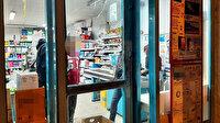 Edirne'de hırsız dehşeti: Kasiyer tarafından markete kitlenince camı kırarak kaçtı
