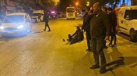 Ankara'da yolun karşısına geçmeye çalışan yayaya çarpan otomobil kaçtı