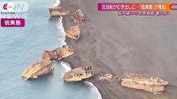Depremler ortaya çıkardı: ABD'nin batırdığı gemiler volkan patlamasının ardından su yüzüne çıktı