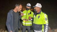 Aksaray'da sarhoş adam alkol testini kendi yaptı: Ben alkollüyüm o zaman