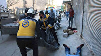 Esed rejiminin İdlib'in Eriha ilçesinde bir pazar yerine saldırı düzenledi: 10 sivil öldü, 35 sivil yaralandı