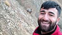 Tunceli Ovacık'ta ayının peşinden koşup selfie çekti