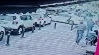 Maltepe'de bir kişi gaspa uğradığı hırsızların aracına atladı