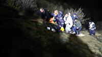 Gümüşhane'de korkunç kaza: Kamyonet 100 metrelik uçuruma yuvarlandı