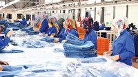 Tekstil ihracatı  dolu dizgin