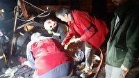 Kocaeli'de baraka alev alev yandı: Küllerin arasında para aradılar