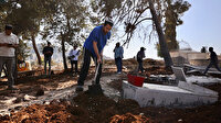 İşgalci İsrail şimdi de Müslüman mezarlığını talan etti: Park yapmak için çalışmalara başladı