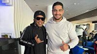 Taha Akgül Ronaldinho ile buluştu