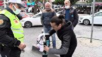 İstanbul Fatih'te ters yönde giden scooterlıya 314 lira ceza