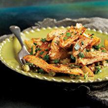 Baharatlı Kızarmış Patates Salatası