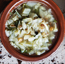 Yeşil Mercimekli Lahana Çorbası