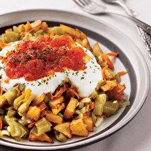 Kızarmış Patatesli Fasulye Salatası
