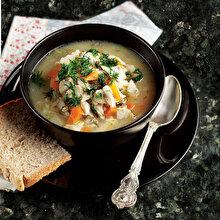 Sebzeli Levrek Çorbası
