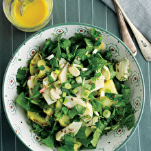 Enginarlı Yeşil Bahar Salatası