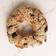 Zeytinli Keten Tohumlu ve Taze Kekikli Pastane Simidi