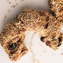 Cevizli Kuru Üzümlü Tarçınlı Pastane Simidi