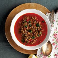 Taze Sarımsak ve Naneli Maş Çorbası