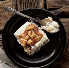 Karamelize Elmalı Bisküvili Pasta