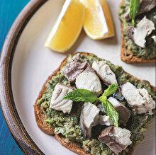 Yeşil Mercimek Pateli Ekmek Üstü Palamut