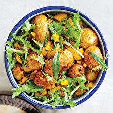 Taze Zahterli Patates Salatası