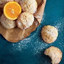 Limonlu Portakallı Çatlak Kurabiye