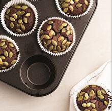 Kahveli Çekirdekli Muffin Brownie