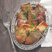 Firikli Etli Kuru Acur ve Patlıcan Dolması