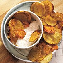 Fırında Patates ve Havuçla Dipsos