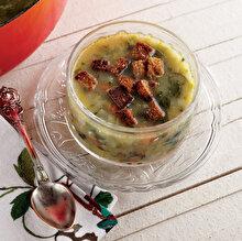 Ispanak Çorbası ve Çeşnili Kruton