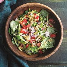 Semizotlu Közlenmiş Patlıcan Salatası