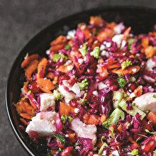 Nar ve Ekşili Kış Sebzeleri Salatası